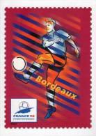Lote F-Fr109, Francia, 1998, Entero Postal, Postal Stationany, World Cup Football, Soccer, Bordeaux - Enteros Postales