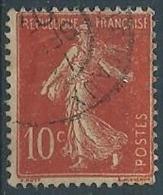 1906 FRANCIA USATO SEMINATRICE A FONDO UNITO 10 CENT I TIPO - EDF203 - 1906-38 Semeuse Camée