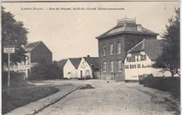 Laeken-Heysel - Rue du Heysel. Arr�t du vicinal. Ecole Communale - 1906 - sans nom d' �diteur
