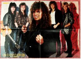 Musik Poster  Gruppe Europe  -  Rückseite : Bonnie & Pierre  -  Von Bravo Ca. 1982 - Plakate & Poster