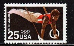 USA 1988 Summer Olympics Games, Seoul, Korea Stamp #2380 Gymnastic Rings - Gymnastics