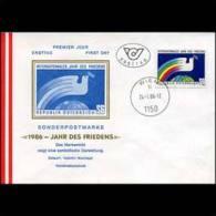 AUSTRIA 1986 - FDC - 1335 Int.Peace Year(WE639) - 1981-90 Brieven
