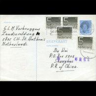 NETHERLANDS 1987 - Pre-stamped Card-Queen 55c(WJ479) - Periodo 1980 - ... (Beatrix)
