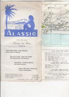 B1277 - Brochure SAVONA - ALASSIO - PIANTA CITTA' - ALBERGHI - INFO TURISMO  Ed.f.lli Stalla 1969 - Europa