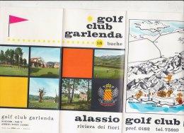 B1279 - Brochure Illustrata SAVONA - ALASSIO - GOLF CLUB GARLENDA  Ed.Spiga Anni '70 - Golf