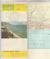 B1283 - Brochure SAVONA - ALASSIO - PIANTA DELLA CITTA' - INFO TURISMO Ed.LAC Anni '60 - Europa
