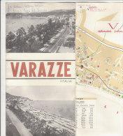 B1291 - Brochure Illustrata SAVONA - VARAZZE - PIANTA CITTA' - LISTA ALBERGHI Ed.Tipograf Anni '60 - Europa