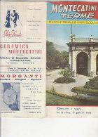 B1316 - MONTECATINI TERME - PISTOIA - PIANTA DELLA CITTA' Arte Della Stampa Montecatini 1965 - Europa