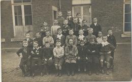 Carte Photo  Classe Ecole Communale Lize 1908 De Seraing Vers Grand Bigard 1908 - Seraing