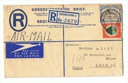 AIR MAIL Départ De JOHANNESBOURG Pour  LYON 1946 - Poste Aérienne