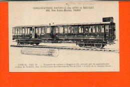 Chemin De Fer - Train Conservatoire National Des Arts Et Métiers - Maquette De Voiture à Boggies à 1/5 , Exécuté (état) - Trains