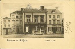 """CP De SOIGNIES """" Souvenir De Soignies - L'hôtel De Ville """" . - Soignies"""