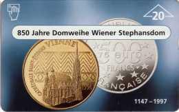 """Télécarte Thème """"Numistherapie"""" : Autriche : 1 Pièce.at & 1 Pièce.fr : Petit Tirage 1000 - Timbres & Monnaies"""