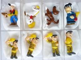 SERIE COMPLETE DE 8 FIGURINES PRIMES - LUCKY LUKE MORRIS - Figurines