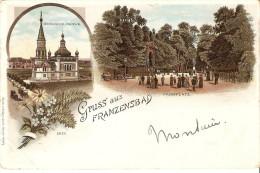 Gruss Aus Franzensbad Russische Kirche Parkplatz - Tchéquie