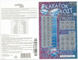 Instant Lottery Ticket (Scratch Off) From Hungary Used Diamond Diamonds - Billets De Loterie