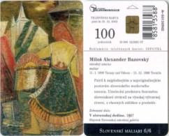 Telefonkarte Slowakei - M. A. Bazovsky - Gemälde,painting - Aufl. 50000 - Slowakei