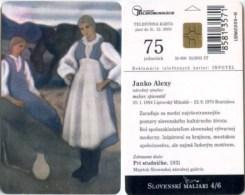 Telefonkarte Slowakei - Janko Alexy - Gemälde,painting - Aufl. 50000 - Slowakei