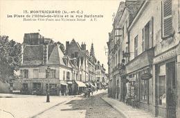 Montrichard, La Place De L'Hotel-de-Ville Et La Rue Nationale - Montrichard