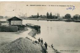 CPA 94 CHOISY LE ROI LA SEINE ET LA COMPAGNIE DES EAUX 1907 - Choisy Le Roi