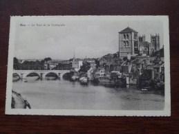 Le Pont Et La Collégiale HUY / Anno 19?? ( Zie Foto Voor Details ) !! - Hoei