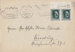 DR Brief Mef Minr.2x 646 Düsseldorf 12.5.37 - Deutschland