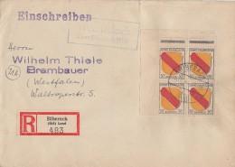 Fr. Zone R-Brief Mef Minr.4x 10 OER Biberach 10.5.46 Lpst. - Französische Zone