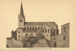 LIEGE. Collégiale Saint Pierre En 1737.........(voir Scan Verso) - Liege