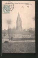 CPA Colombiers-sur-Seulles, L'église Avec Les Champs Au Premier Plan - Unclassified