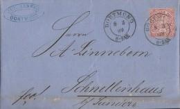 NDP Brief EF Minr.16 Dortmund 8.3.69 - Norddeutscher Postbezirk