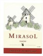 Ancienne étiquette De Vin Mirasol Tinto Espagne Moulin à Vents - Windmills