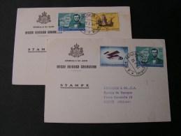 == San Marino 2 Karten - Briefe U. Dokumente