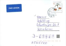 Tschechische Republik Brno TGST 1999 9 Kc. Waage Luftpostbrief - Tschechische Republik