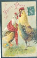 Relief - Gaufrée - Embossed - Prage - Coq Ou Poule - Petit Grattage à Droite - Pâques