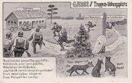 AK Gruss Vom Truppenübungsplatz - 1934 (7455) - Humor