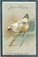 Relief - Gaufrée - Embossed - Prage - Coq Ou Poule - BE - Pâques