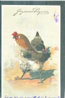 Relief - Gaufrée - Embossed - Prage - Coq Ou Poule - Petite Tâche à Droite - Pâques