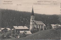 AK Riesengebirge Johannisbad Janske Schule Kirche Sola Fide Gasthof Reichsapfel Bei Schwarzenberg Freiheit Marschendorf - Sudeten