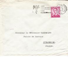 BELGIUM USED COVER 09/02/1968 COB 1067 - 1953-1972 Bril