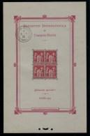 FRANCE BLOC N�1 NEUF**/OBLIT EXPOSITION PHILATELIQUE de PARIS 1925 LUXE SIGNE BEHR COTE : 3000�