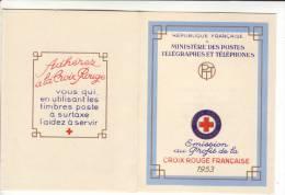 Carnet Croix-Rouge 1953 -** - - Cruz Roja