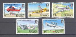 Michel # 18 - 22  50th Anniversary Of Airport - Alderney
