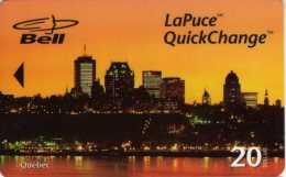 Bell LaPuce QuickChange 20 Dollars : Québec : Tirage 10000 : 05/1998 - Canada