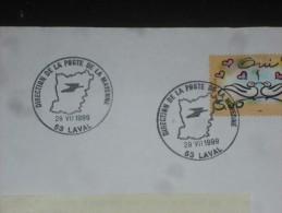 LAVAL DIRECTION DEPARTEMENTALE - MAYENNE - CACHET ROND MANUEL SUR YT 3229 - MARIAGE OISEAU TOURTERELLE - - Marcophilie (Lettres)
