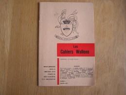 LES CAHIERS WALLONS N° 1 1976  Laloux Smal Vanorlé Dimanche Fraiture Jacques Poètes Poèsie Dialecte Namur Poèmes Patois - België