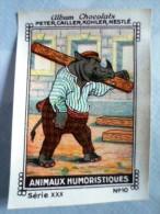 IMAGE Chocolat Peter Cailler Kohler Nestlé ANIMAUX HUMORISTIQUES N 10 LE RHINOCEROS - Nestlé