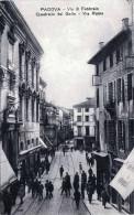 PADOVA - Via 8 Febbraio, Quadrivio Del Gallo, Via Roma, Belebte Strassenansicht 1905? - Padova (Padua)