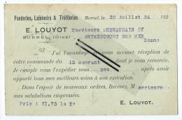 Fonderies, Laminoirs & Tréfileries - E.LOUYOT - Bornel - 1900 – 1949