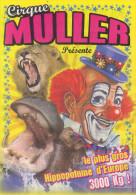 Cirque Muller Affichette Publicitaire - Clown Lion Félin - Sonstige