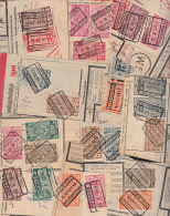 F0078 BELGIUM 1930s, 75+ Railway Parcel Stamps On Piece - Revenue Stamps
